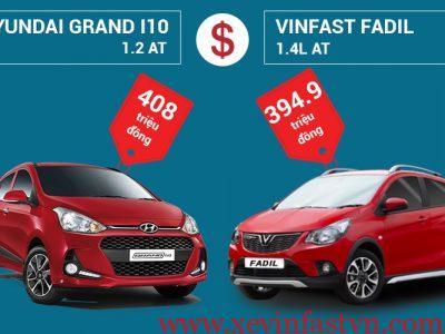 So sánh VinFast Fadil 1.4L AT và Hyundai Grand i10 1.2 AT: Nên mua xe nào?